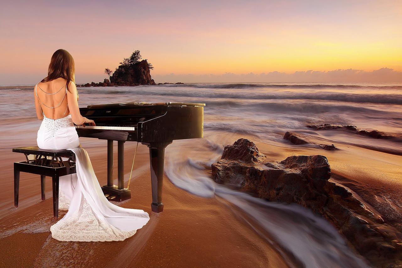 sea, beach, sunset